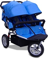 CityX3 Double Stroller Pacific Blue