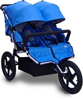 X3 Sport Double Stroller Pacific Blue